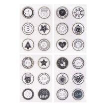 Adventi naptár számok aranyfóliás papír matrica