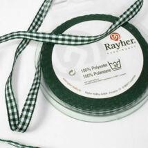 Antikzöld kockás textil szalag 9,5 mm