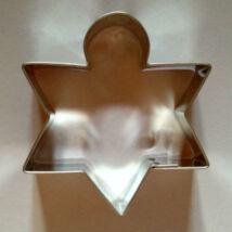 Csillag karácsonyfadísz sütikiszúró, szaggató forma 6,5 cm