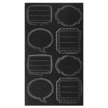 Fekete táblafólia matrica, címke 8 db