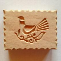 Galamb népi mintás fa sütipecsét, kekszmintázó