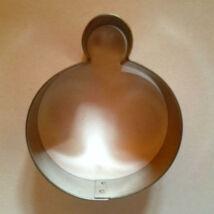 Gömb alakú karácsonyfadísz sütikiszúró, szaggató forma 6 cm