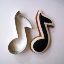 Hangjegy sütikiszúró forma 7 cm zenekedvelőknek
