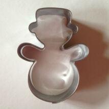 Hóember karácsonyi sütikiszúró forma 6 cm