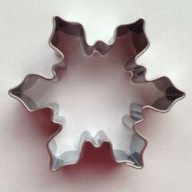 Hókristály, hópehely karácsonyi mézeskalács kiszúró forma 5 cm