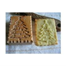 Karácsonyfa mintás fa sütipecsét