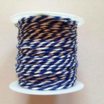 Kék fehér pékzsineg, dekorzsineg 10 m