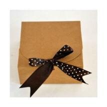 Kicsi natúr papír masnis sütisdoboz, ajándék doboz 1 db
