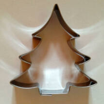 Mézeskalács fenyőfa karácsonyi szaggató forma 7,5 cm
