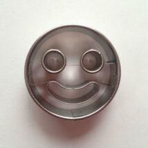 Mosolygós arc smiley linzer kiszúró forma 5 cm