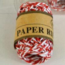 Piros-fehér sodrott papírzsineg, papír pékzsineg