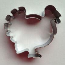 Pulyka állatos mézeskalács kiszúró forma 7 cm