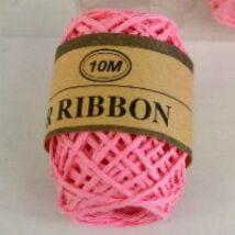 Rózsaszín sodrott papírzsinór, papír pékzsineg