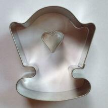Szívecskés bölcső sütikiszúró, linzer kiszúró készlet 8,2 cm 2 db-os