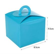 Világoskék papír süteményes doboz, party doboz 6 db