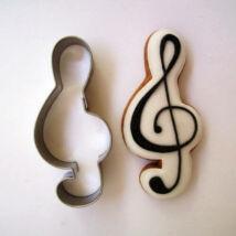 Violinkulcs sütikiszúró forma 6,5 cm zenekedvelőknek