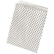 Fehér pöttyös papírzacskó 25 db