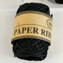 Fekete sodrott papírzsinór, papír pékzsineg