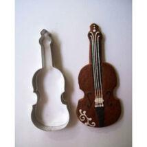 Hegedű sütikiszúró forma 6 cm zenekedvelőknek