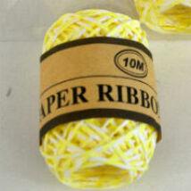 Sárga-fehér sodrott papírzsineg, papír pékzsineg
