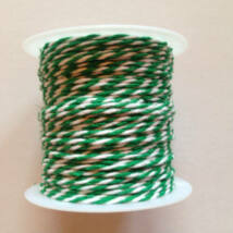 Zöld fehér pékzsineg, dekorzsineg 10 m