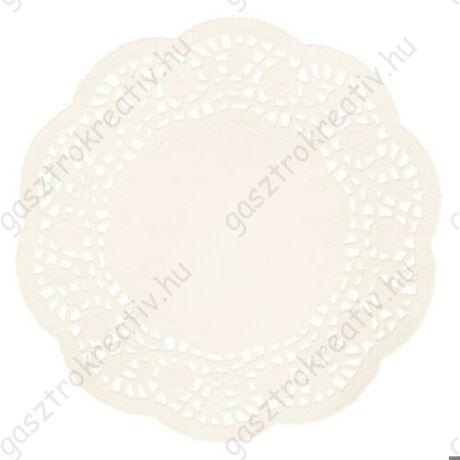 16 cm-es krémszínű kör tortacsipke 20 db-os csomag