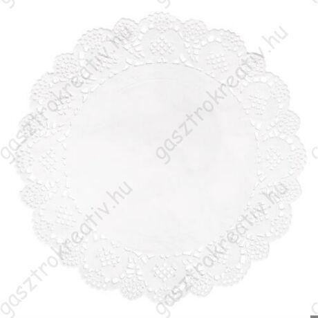 21,5 cm-es fehér kör tortapapír 15 db-os csomag