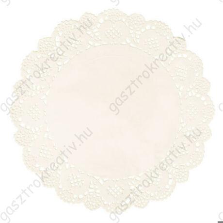 21,5 cm-es krémszínű kör tortapapír 15 db-os csomag