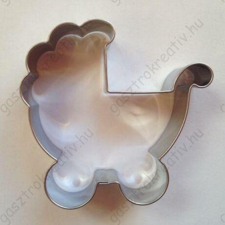 Babakocsi kiszúró mézeskalács forma babáknak 6,1 x 6,2 cm
