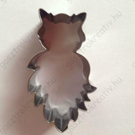 Baglyos sütikiszúró mézeskalács forma 5,5 cm