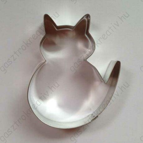 Cica kiszúró nagy kövér kandúr macska 9,7 x 8,4 cm