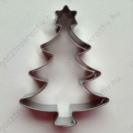 Csillagos karácsonyfa mézeskalács kiszúró forma 7,3 cm