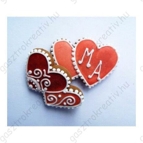 Dupla szív sütikiszúró forma 8,5 cm Valentin napra