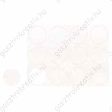 Fehér nyomdázható matrica, címke 12 db