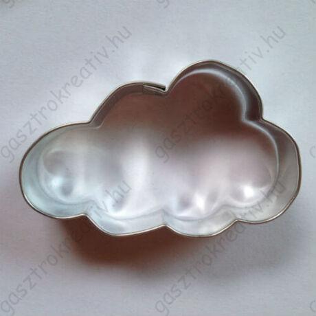 Felhő tésztakiszúró mézeskalács szaggató forma 6,5 cm