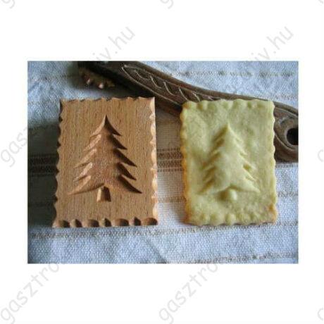 Fenyőfa mintás fa sütipecsét