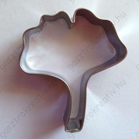 Ginkgo biloba Ginko páfrányfenyő levél sütikiszúró 5,7 x 5 cm