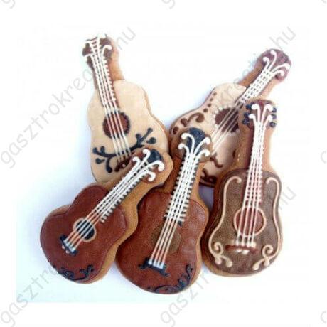 Gitár sütemény kiszúró forma 7,4 cm zenekedvelőknek
