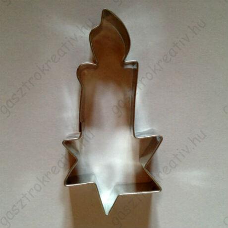 Gyertya sütikiszúró forma, csillagos 9 cm