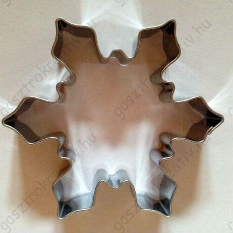 Hókristály, hópehely kiszúró szaggató forma 6,5 cm