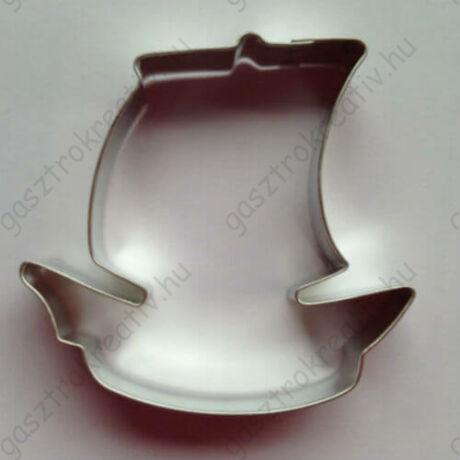 Kalózhajó jármű mézeskalács kiszúró forma 7,5 cm