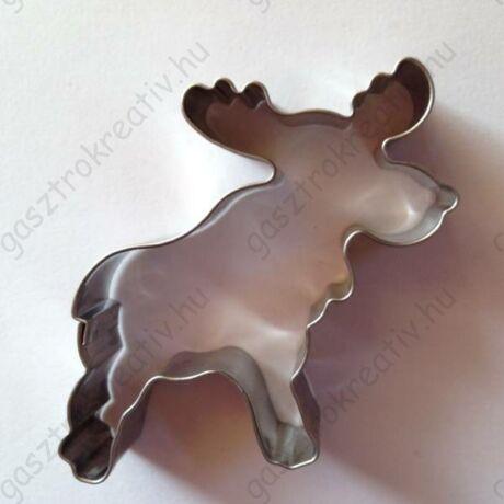 Karácsonyi rénszarvas sütikiszúró forma kisebb 5,2 cm x 5,8 cm