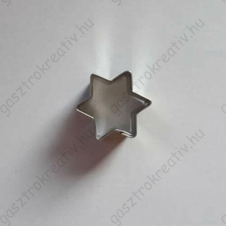 Kis csillag karácsonyi mézeskalács figura 6 ágú 2,5 cm