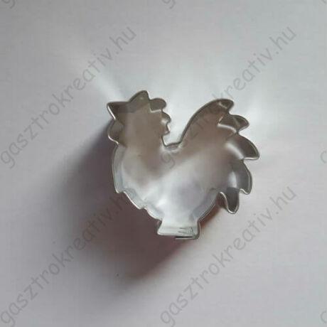 Kis kakas kiszúró forma, mézeskalács figura 4 cm