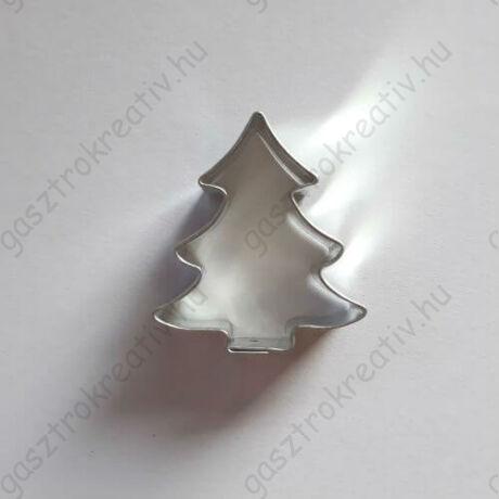 Kis karácsonyfa kiszúró mézeskalács figura 3,7 cm