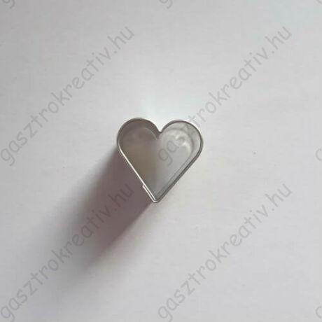 Kis szív linzer közép forma, linzer kiszúró 2 cm