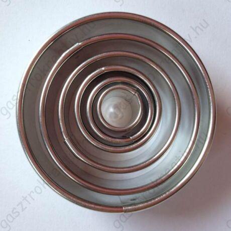 Kör sütikiszúró készlet csomag 5 db-os 5 - 4 - 3 - 2 - 1,5 cm