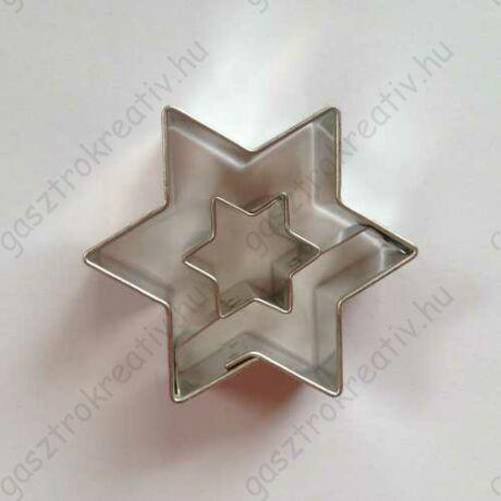 Linzer kiszúró csillag csillag középpel 4,5 cm - linzer felső