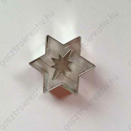 Linzer kiszúró csillag sarkcsillag középpel 4,5 cm - linzer felső