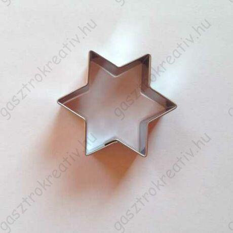 Linzer kiszúró csillag sütikiszúró 4,5 cm - linzer alsó